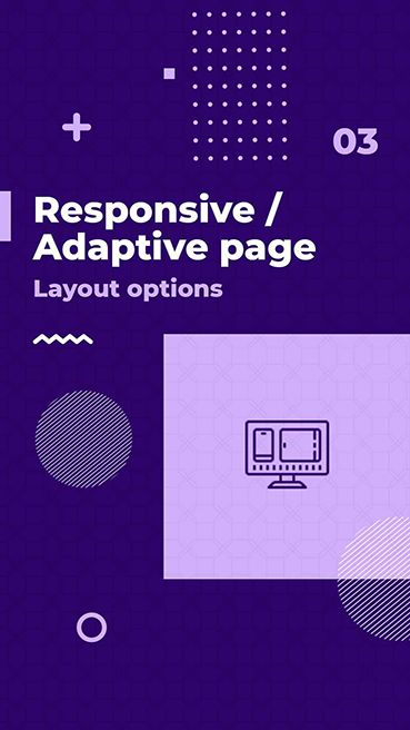 Responsive Adaptive page layout options